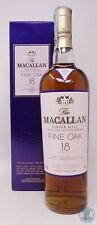 Scotch Whisky MACALLAN 18yo Bourbon & Sherry Oaks con Box (b)