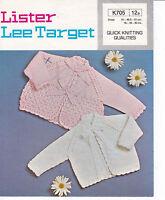 vintage LEE TARGET knitting pattern babies matinee coats 16-20 QK