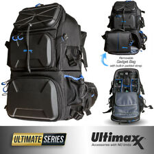 Heavy Duty Deluxe Camera Professional Backpack with Removable Gadget Bag