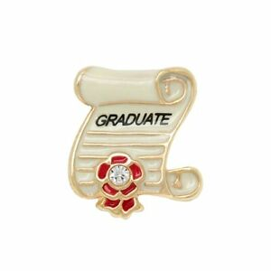 Authentic Origami Owl Graduation Diploma Crystal Enamel Charm BRAND NEW CH4026