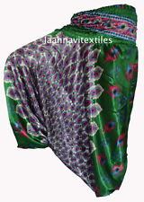 INDIAN BAGGY GYPSY HAREM PANTS YOGA MEN WOMEN PEACOCK FEATHER PRINT TROUSER