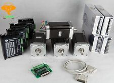German&Free Ship! 4Axis Dual Shaft Nema34 stepper motor 1600oz.in& DriverDM860A