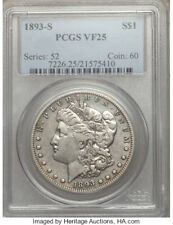1893-S * PCGS VF25 * Silver MORGAN Dollar $1 * The KING * $5,500+++ Nice & LIGHT