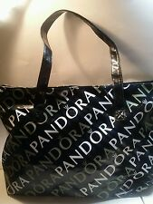 LIMITED EDITION PANDORA (JEWELRY)~ Black~ Vinyl~ Handbag~ Tote~ Bag~ Purse
