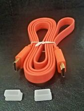 ORANGE  1.5 meter Flat HDMI Cable 1.4 Version Video/Audio Computer TV 1080p