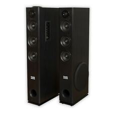 Acoustic Audio TSi350 Bluetooth Powered Floorstanding Tower Home Speaker Pair