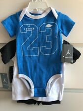 Nike Air Jordan Jumpman Baby Boy 3x Pack Bodysuit Shorts Tshirt Set 6-9 Months