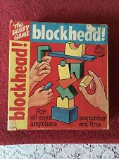 vintage the party game ARE U A BLOCKHEAD! 1954 the saalfield pub. co