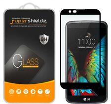 2X LG K10 / LG Premier 4G LTE Full Cover Tempered Glass Screen Protector (Black)