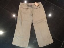 NWT Juicy Couture New & Gen. Ladies Small Beige Crop Leg Linen Trousers UK 8/10
