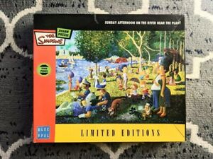 The Simpsons Jigsaw, Sunday Afternoon on the River Near the Plant 1000 pieces