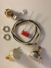Wiring Harness Kit For P Bass Cts 450G Knurled Pots .068uf 225P Orange Drop Cap