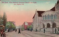 Hill Street - Early Town View of Los Angeles, California, Ca Postcard