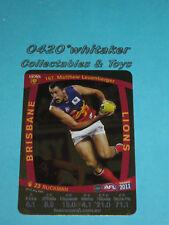 2011 Teamcoach Gold card BRISBANE #167 M.Leuenberger