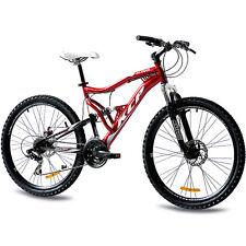 """26"""" pulgadas MTB mountainbike bicicleta rueda KCP Attack con 21 marchas Shimano rojo nuevo"""