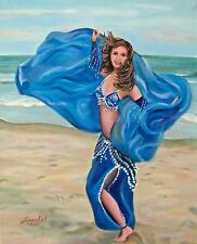 Printable Wall Art Print Belly Dance on Beach Home Decor Instant Download