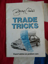 Vintage Barry Cade's Trade Tricks Problem Cars Booklet 1980s