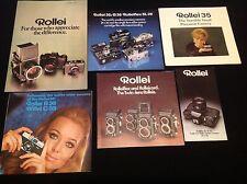 JOBLOT VINTAGE 1970's ROLLEI ROLLEIFLEX CAMERA BROCHURES LEAFLETS REF F9