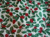 Lot # 18 Longaberger Traditional Holly  Liner New In bag Made in USA