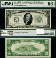 FR. 2002 G $10 1928-B Federal Reserve Note Chicago DGS G-A Block Gem PMG CU66EPQ