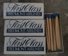10 BOXES OF PIEDMONT AIRLINES WOODEN MATCHES FIRST CLASS UNUSED VERY GOOD $5.99