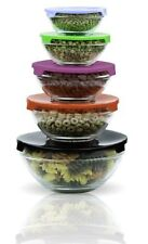 Rubbermaid 5 Pc Storage Food Container Lids Plastic Glassware Set Kitchen BPA
