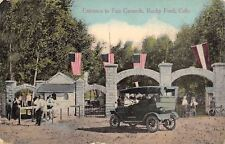 Rocky Ford Colorado~Entrance to Fairgrounds~Ticket Window~Car~Bicycles~1910 PC