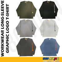 Carhartt K231 Men's Long Sleeve T-Shirt Signature Sleeve Graphic Logo Workwear
