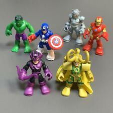 6X Playskool Marvel Super Hero Loki Ultron Hawkeye Hulk Captain America Figure