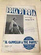SPARTITO MUSICALE BOCCA DI ROSA BOTTEGA DEI 4 FILM IL CAPPELLO A TRE PUNTE 1935