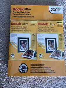 Kodak Ultra Premium Photo Paper 4 x 6 Inches High Gloss 200 Sheets Sealed NEW