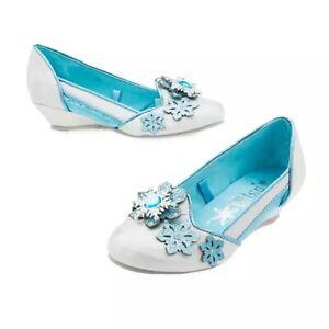 NEW Disney Store SZ 9/10 Frozen Elsa Costume Shoes Princess Girls NWT