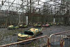 Encadrée imprimer-autos tamponneuses à la centrale de tchernobyl foraines (gothique photo)