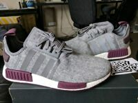 Adidas NMD_R1 Runner Nomad Boost Burgundy Grey Maroon Wool Exclusive CQ0761