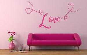 Love Quote Vinyl Wall Art Sticker, Mural, Decal. Home Decor. Bedroom