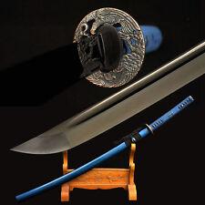 Handmade Japanese Samurai Sword Katana 1060 High Carbon Steel Black Blade Sharp