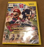 Mario & Sonic at the London 2012 Olympic Games Nintendo Wii NEW Factory Sealed!