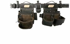 NEW Tool Belt Leather Pouch Occidental Electrician Bag Pocket S Framer Carpenter