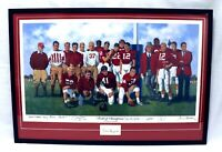 Bear Bryant + 8 Signed 27x40 Alabama Crimson Tide Field of Champions Lithograph