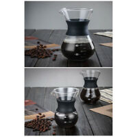 High Temperature Resistant Glass Manual Drip Coffee Pot higher security durable