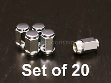 "20pc 1/2""x20 Lug Nuts - Bulge Chrome Acorn Cone Conical - 19mm or 3/4"" Hex"