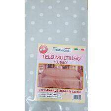 Mobilier de tissu Gris pois blanc 270x280 couvre tout granfoulard Housse Coton