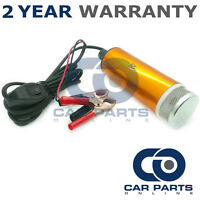 12V FUEL WATER DIESEL TRANSFER PUMP/FILTER SUBMERSIBLE PORTABLE CLIP ON BATTERY