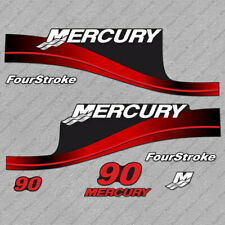 Mercury 90 hp Four Stroke outboard engine decals RED sticker set reproduction