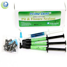 Prime-Dent Dental Light Cure Pit & Fissure Sealant Clear 3 Syringes & 1.2ml Etch