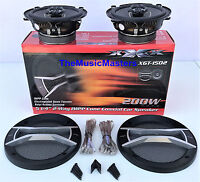 "Pair 5 1/4"" Quality Coaxial 2-Way Car Audio Stereo Radio Replacement Speakers"