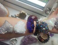 Beautiful angel aura celestial aura amethyst aura blue purple Crystal's cluster