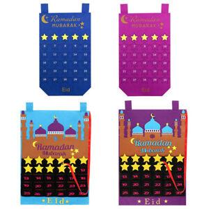 Felt Eid Mubarak Ramadan Kareem Mosque Countdown Calendar Childrens Present