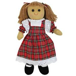 Personalised Powell Craft Red Tartan Rag Doll -Fabric Doll, Child's Gift