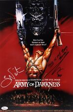 "BRUCE CAMPBELL & SAM RAIMI Hand-Signed ""ARMY OF DARKNESS"" 11x17 photo (JSA COA)"